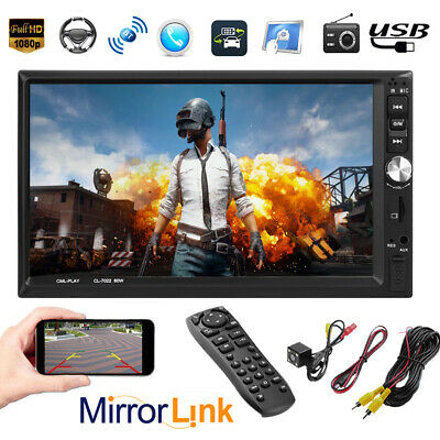 "7"" 2DIN 1080P Car MP5 Player Touch Screen Bluetooth Stereo FM Radio Head Unit"