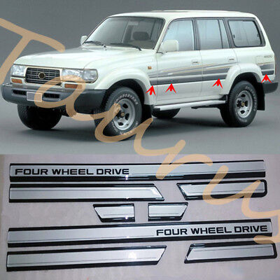 For Toyota Land Cruiser LC80 4500 FZJ80 91-97 8x Car Door Anti-collision Strips