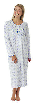 Marlon Pure Cotton long sleeved button through nightdress