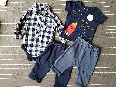 Baby boys bundle 6-9 months Next trousers top shirt vest great condition