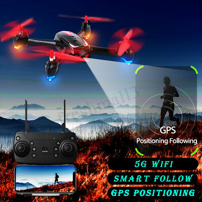 5G WIFI GPS Follow Me RC Drone Quadcopter FPV Camera 1080P Brushless Helicopter