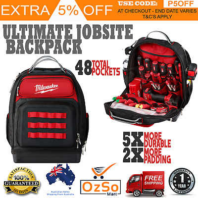 Back Pack Tool Bag Carrier Storage Electrician Builder Tradie Tool Box New