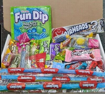 35 American Sweets Gift Box USA Candy Hamper Laffy Taffy Airheads Jolly Rancher