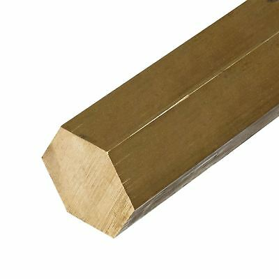 C360 Brass Hex Bar, Size: 1.250 (1-1/4 inch), Length: 12 inches