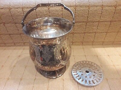 Beautiful Silver Plate Antique Ice Bucket