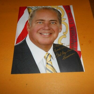 Earl Ray Tomblin former Governor of West Virginia Hand Signed 8 x 10 Photo