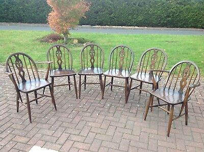 Ercol Dark Wood Dining Chairs
