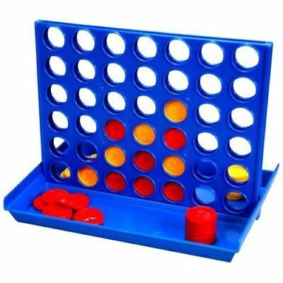New Connect 4 In A Row Four In A Line Board Game Family Fun Mini