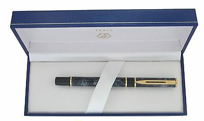 Waterman Laureat Mineral Grey Marble & Gold Rollerball Ballpoint Pen New In Box