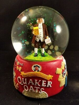 RARE Quaker Oats Snow Globe Limited Edition Hand Numbered Y2K Advertising Cereal