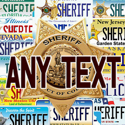 Any State Sheriff Aluminum Any Name Text Personalized Novelty Car License Plate