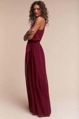 fbb9774441 50sNEW BHLDN ANTHROPOLOGIE DONNA MORGAN BLACK CHERRY ALANA GOWN DRESS  WEDDING SZ