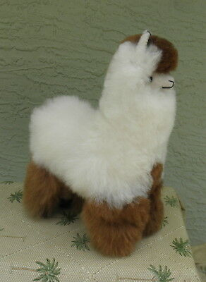 New Handmade By Our Artisan In Peru 11 - 12 inches Standing Plush Alpaca #79