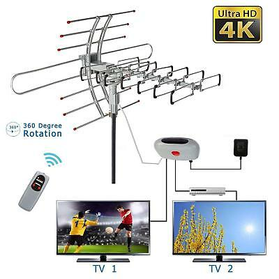 150 Miles Outdoor Amplified HD TV Antenna for Uniden BC 355 C Scanner UHF/VHF/FM