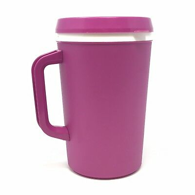 Vintage Aladdin Insulated Travel Mug With Lid In Fushia Pink Large 32Oz