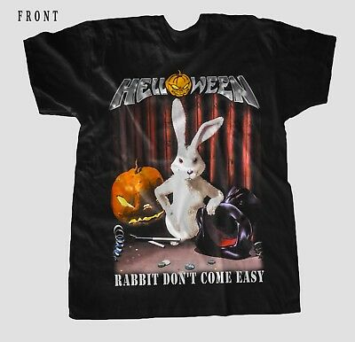 HELLOWEEN-Rabbit Don't Come Easy- Power metal ,BLACK  T_shirt - SIZES:S to 6XL