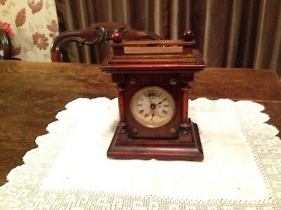 Antique Wooden Alarm Clock