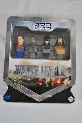 New Collectible Pez Candy DC Universe Justice League In Tin - 073621017542