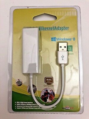 Ethernet RJ45 to USB 2.0 10/100Mbps Network LAN Adapter Card Cable Dongle