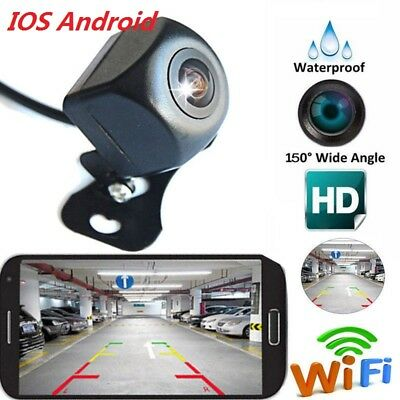New 150° Rear View Camera Night Vision Backup Reverse WiFi For Android D0O5L