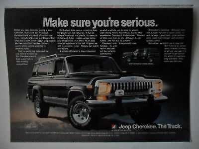 1981 Print Ad Jeep Cherokee Automobile ~ Make Sure You're Serious