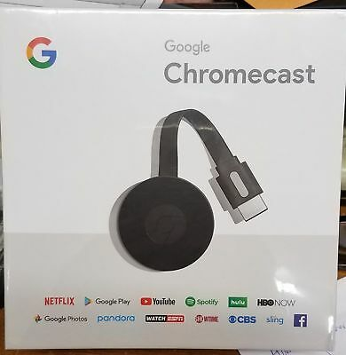 Google Chromecast (2nd Generation) Media Streamer - Black Dec 2017