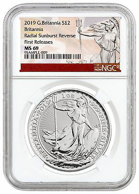 2019 Great Britain 1 oz Silver Britannia Coin NGC MS69 FR Excl SKU55878