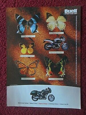 2000 Print Ad BUELL Naked V-Twin Motorcycle ~ Butterflies Different Every Sense