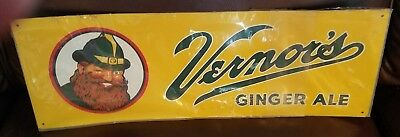 """Vernor's Ginger Ale 17.5"""" x 6.5"""" sign"""