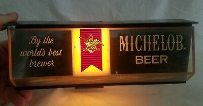 "Vintage Michelob Beer Light Sign ""By The Worlds Best Brewer"" Anheuser Busch WRKS"