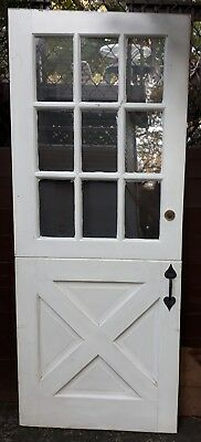 Vintage Solid Wood Dutch Door, 9 Pane