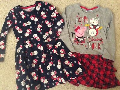 Girls Christmas dresses age 3-4 years