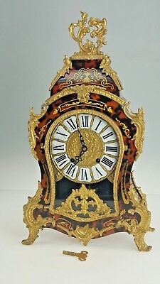Stunning Antique French Style Louis XV Style Boulle Mantel Bracket Clock