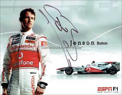 Jenson Button Autograph *Formula One 1 Champion * Hand Signed 10X8 Photo