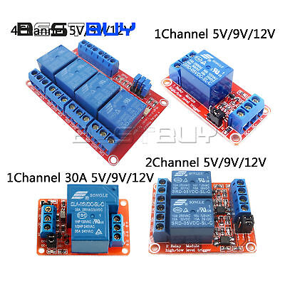 1/2/4 Channel Relay Module Board With Optocoupler High/Low Level Triger 30A