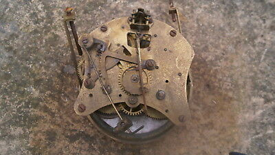 Vintage German ? Porcelain Brass Mantle Wall Clock Movement Spares Repairs