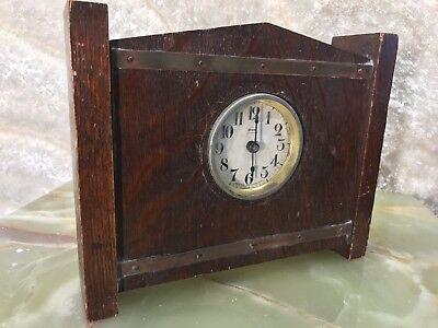 1902 Vtg Antique Westclox Lookout Western Alarm Clock Co La Salle Ill Usa