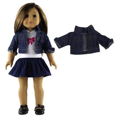 Denim Jacket Coat Clothes For 18inch American Girl Doll Our Generation Dolls