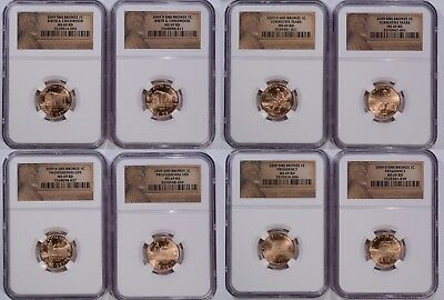 2009 Bronze MS 69 RD Bicentennial Lincoln 4 Coin SMS Cents 2 SETS NEAR PERFECT