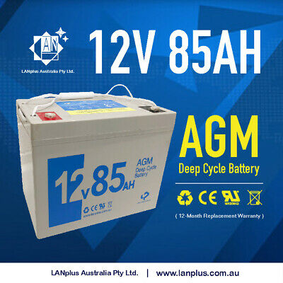 New 12V 85AH AGM Sealed Lead Acid DEEP CYCLE Rechargeable Battery > 80AH