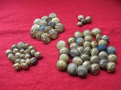 Huge lot of Indian War-Span-Am War State and General Service buttons