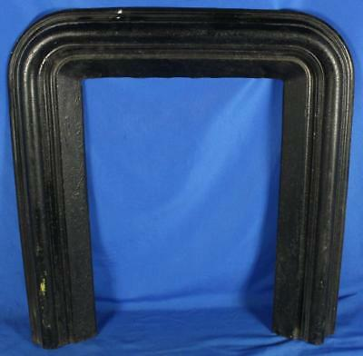 """Antique 1800's S.S. Bent NY Cast Iron Fireplace Surround Hearth 33"""" x 30"""""""