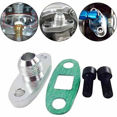 """VMS Turbo Oil Drain Outlet Flange Gasket Adapter 1//2/"""" NPT Fitting T3 T3//T4 T04"""