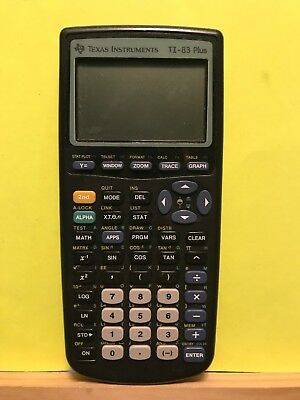Pre-owned ~ Texas Instruments TI-83 Plus Graphing Calculator and Guidebook, 2003