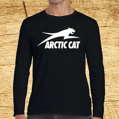 Arctic Cat American Company Logo Long Sleeve Black T-Shirt Size S to 3XL