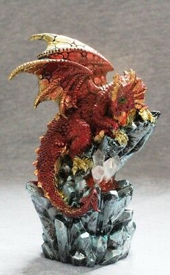 Dragon Night Light Statue Fantasy Mythical Gothic Magic Decorative Ornament C