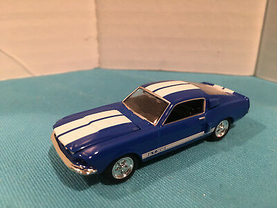 1:64 Hot Wheels LE 1967 67 Ford Mustang GT500 Blue with White Stripes