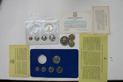 British Virgin Islands Proof and Mint Coins 1973, no silver, 50P Falkland Island