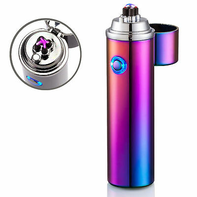 Windproof Dual Arc Electric USB Rechargeable Plasma Lighter Cigar Pipe