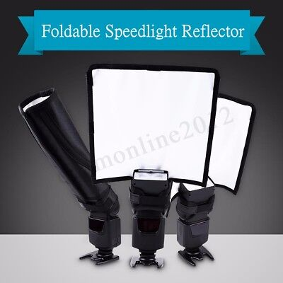Foldable Camera Speedlight Reflector Snoot Flash Beam Cloth Mat Softbox Diffuser